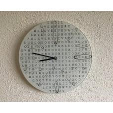 Woordzoeker puzzel klok