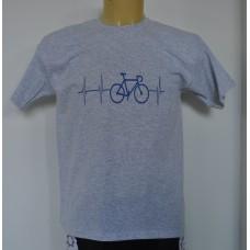 De hartslag van een fietser (blauw)