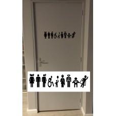 """Toiletdeursticker """"Als  je je handen maar wast"""""""