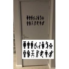 """Toiletdeursticker """"Universeel"""""""