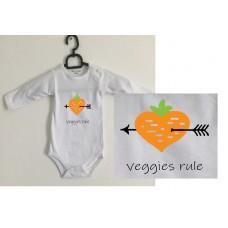 Veggies rule romper